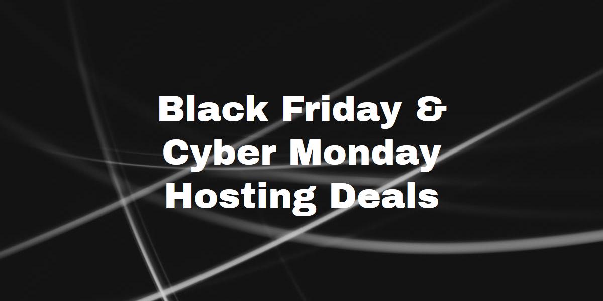 Black Friday Web Hosting Good Deals 2020 Edition Big List