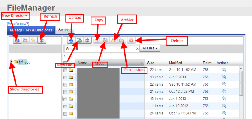 FatCow File Manager