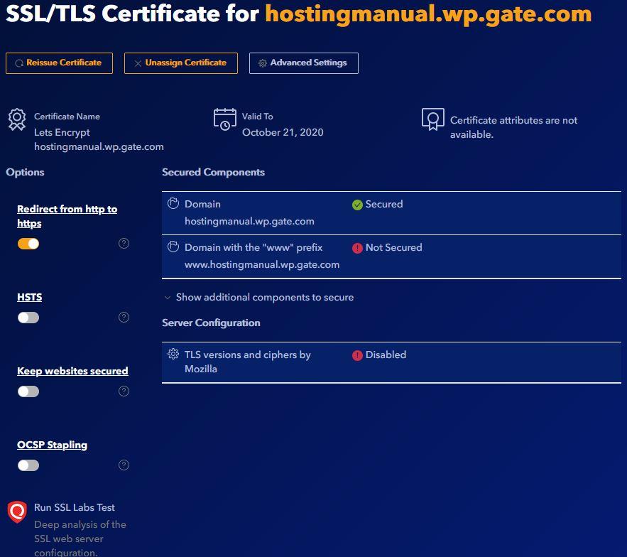 Gate.com SSL