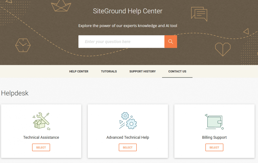 Siteground Help Center